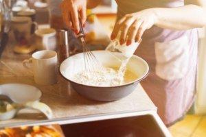 在家簡單做甜點步驟加入麵粉